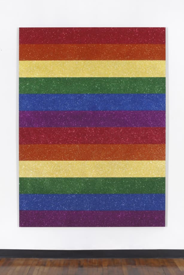 Double Rainbow Flag for Jasper in the Style of the Artists Boyfriend by Jonathan Horowitz