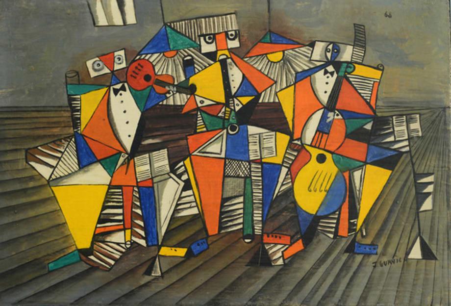 Tres músicos by José Gurvich