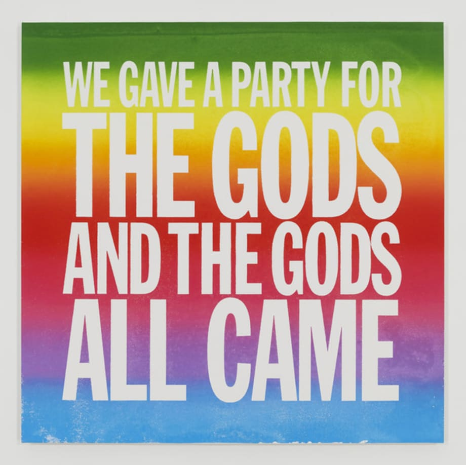 We Gave a Party for the Gods and the Gods All Came, 2014 by John Giorno