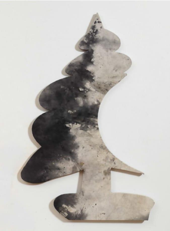 TBT (smoky dropcloth bite tree) by Nate Lowman