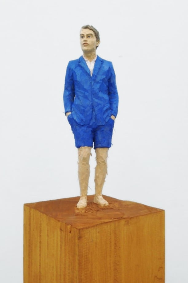 Figure (Man in blue suit and shorts) by Stephan Balkenhol