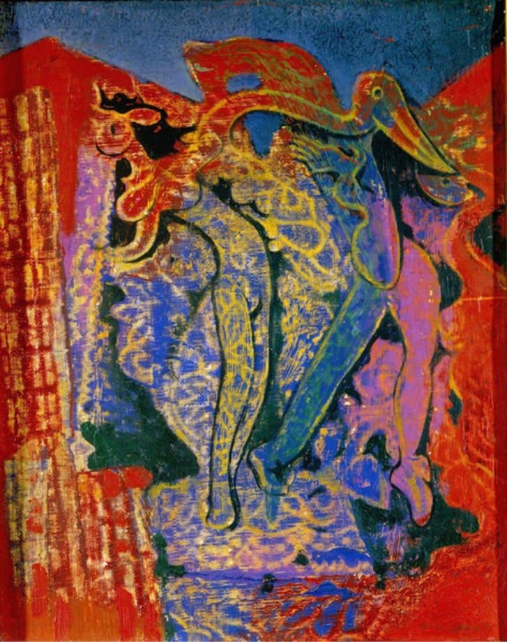 Léda et le cygne by Max Ernst