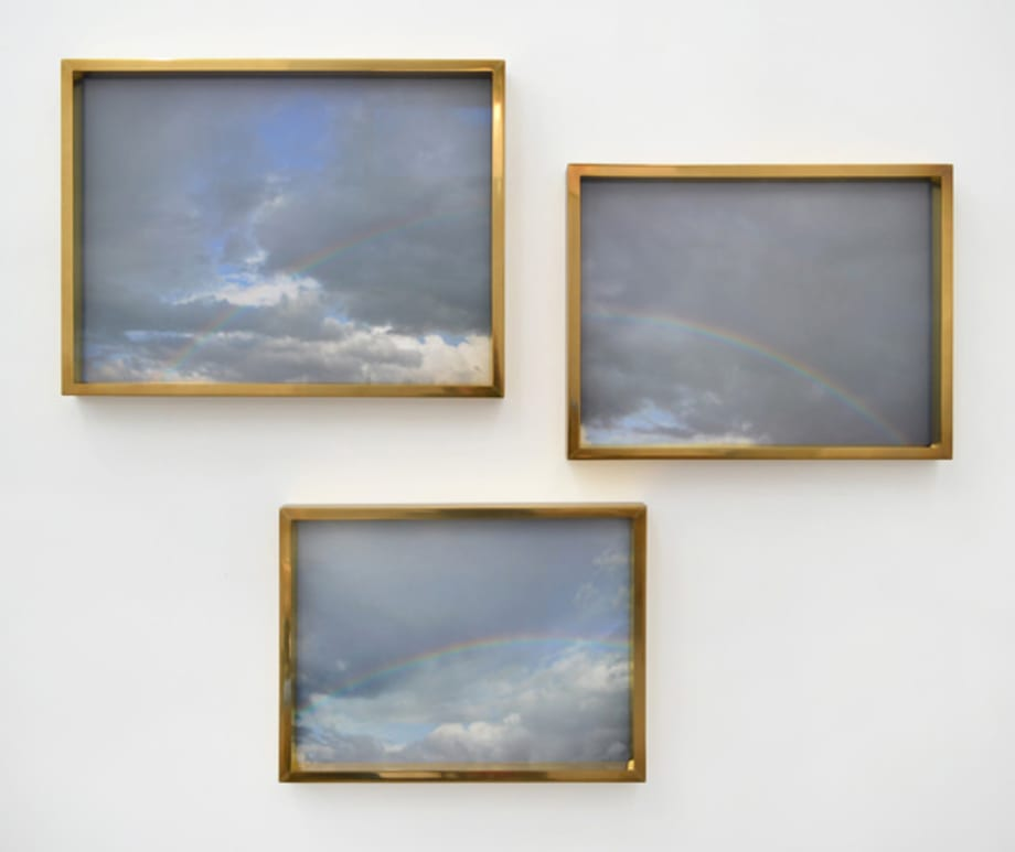 Ireland (Triptych with Blue Sky and Rainbows) from the series Does Yellow Run Forever? by Paul Graham