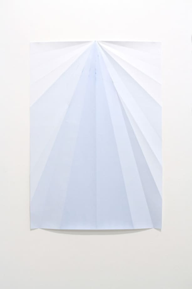 Blue Paperplane by Caline Aoun