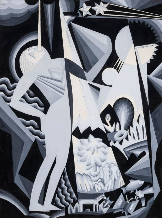 Composition IV, no date by Winold Reiss