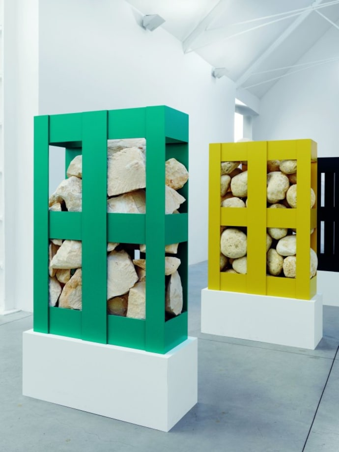 Site/Specific/Pallet/Rock by Jonathan Monk