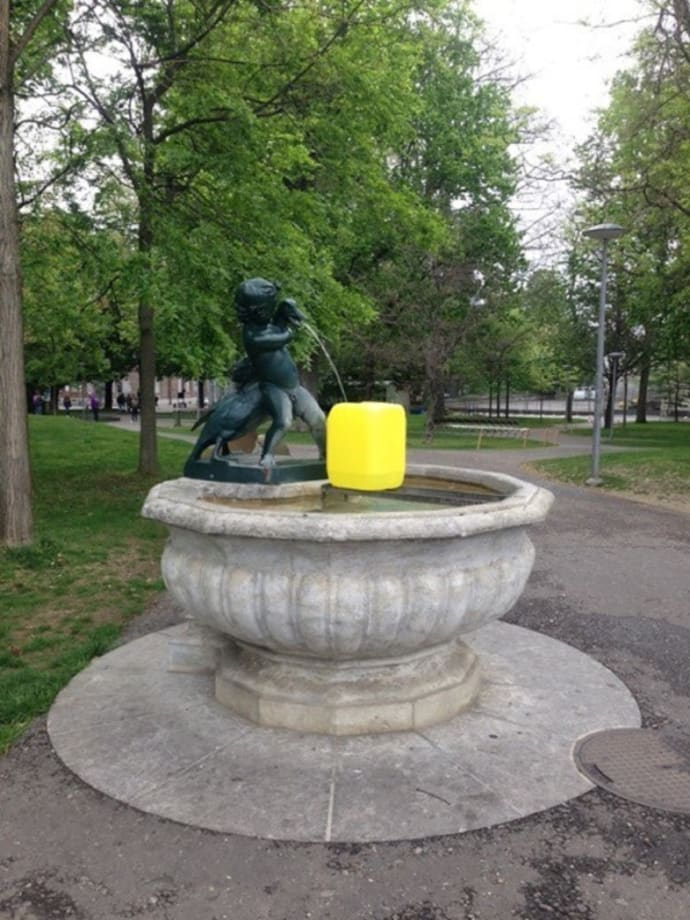Footnote to a fountain by Sophie Nys