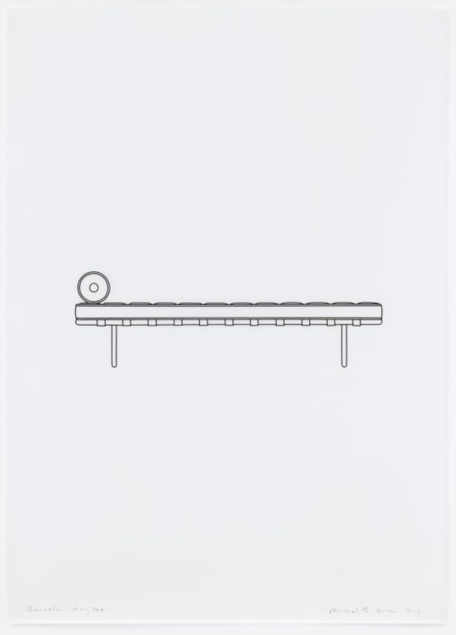 Barcelona day bed by Michael Craig-Martin