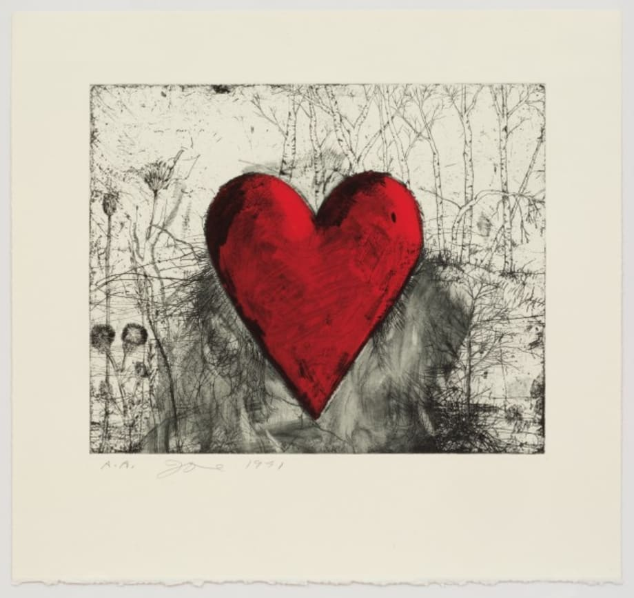The Little Heart in a Landscape by Jim Dine