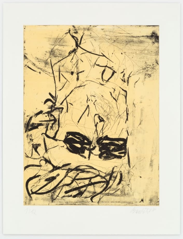 Rauschenberg (yellow) by Georg Baselitz