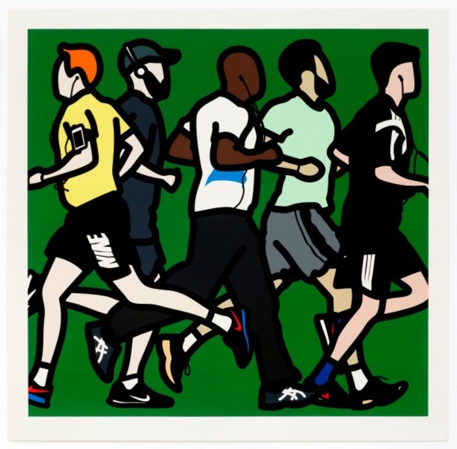 Running men. by Julian Opie