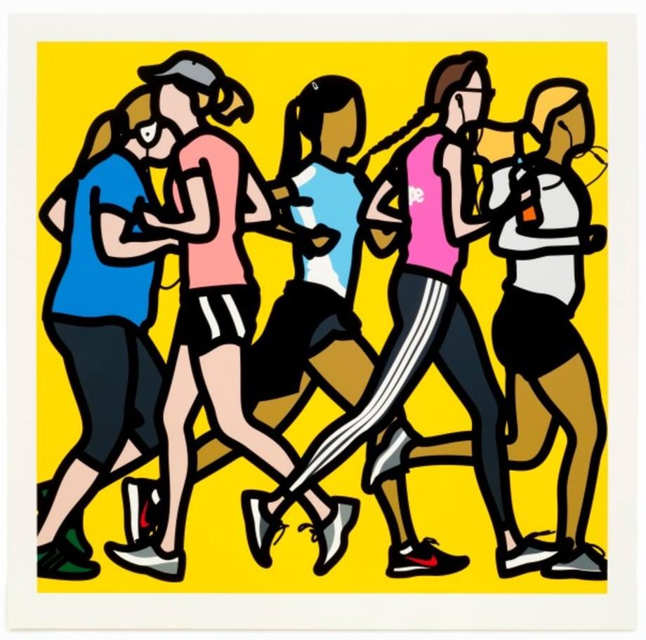 Running women. by Julian Opie