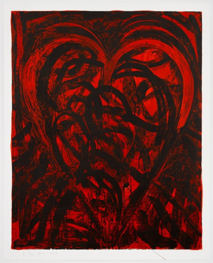 The Red Talisman by Jim Dine