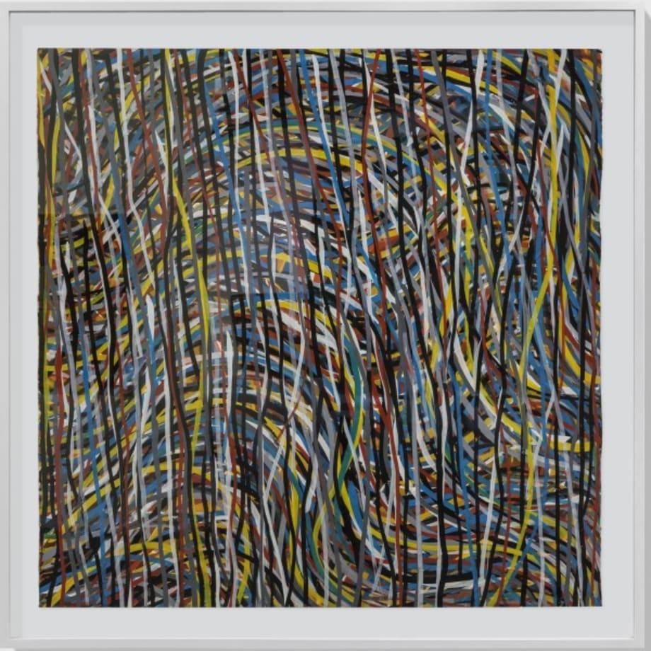 Wavy brushstrokes by Sol LeWitt