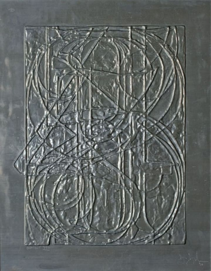 0 Through 9, from Lead Reliefs by Jasper Johns