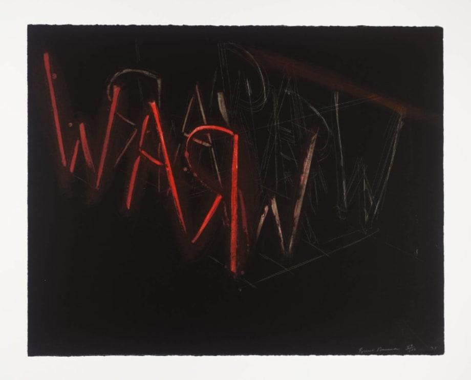 Raw War by Ed Ruscha