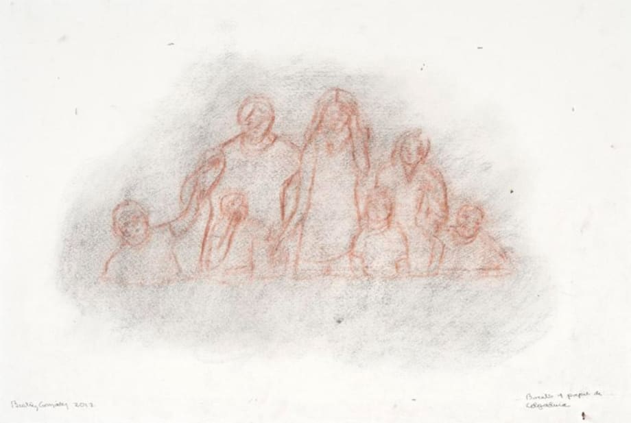 Boceto 1 papel de colgadura by Beatriz González