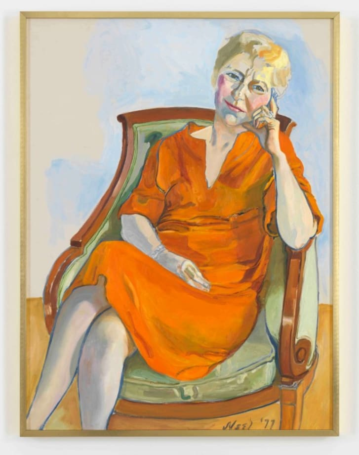 PORTRAIT OF VIRGINIA WHEELWRIGHT by Alice Neel