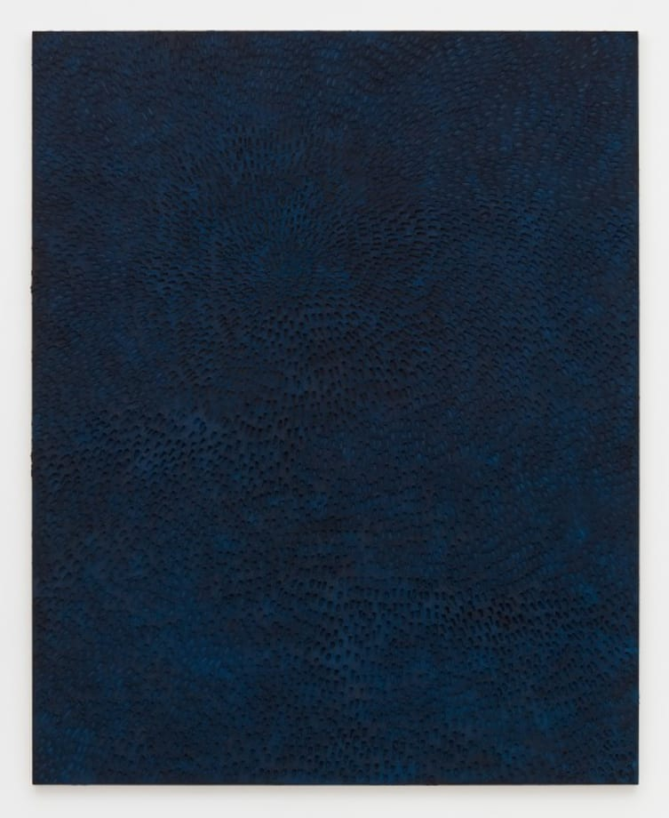 Undertow (Painted Black Sand SF #2F, Blue and Black) by Jennifer Guidi