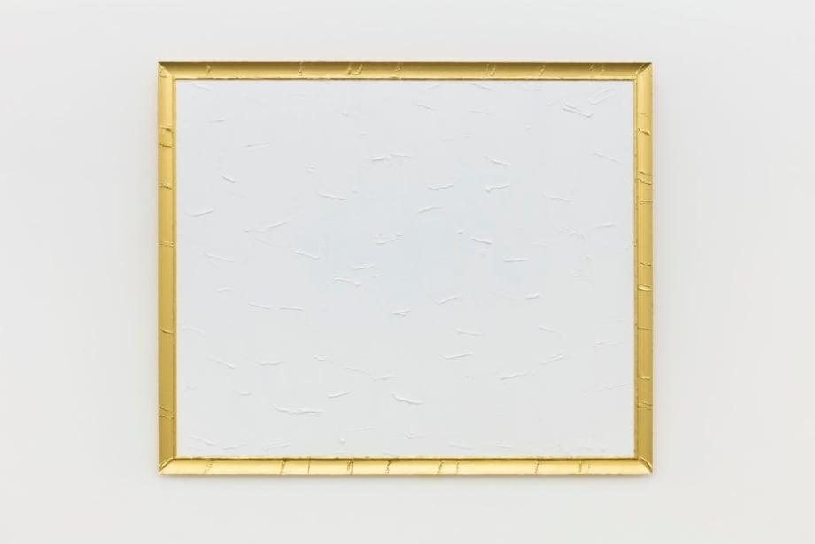 Peinture Blanche et Dorée N°3 by Bertrand Lavier