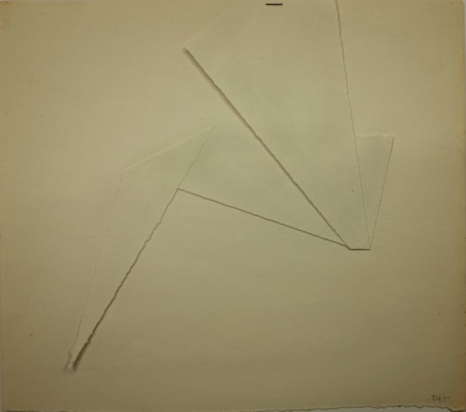 White papers #4 (Serie Origamis) by Claudio Perna