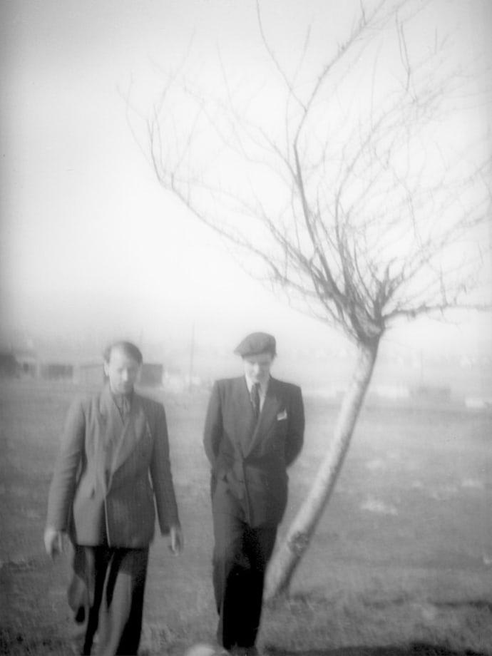 Myself, with my brother Adolfas, Kassel/Mattenberg, 1948 by Jonas Mekas