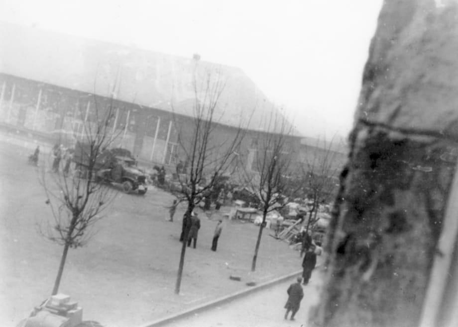 Wiesbaden D.P. Camp, 1945 by Jonas Mekas