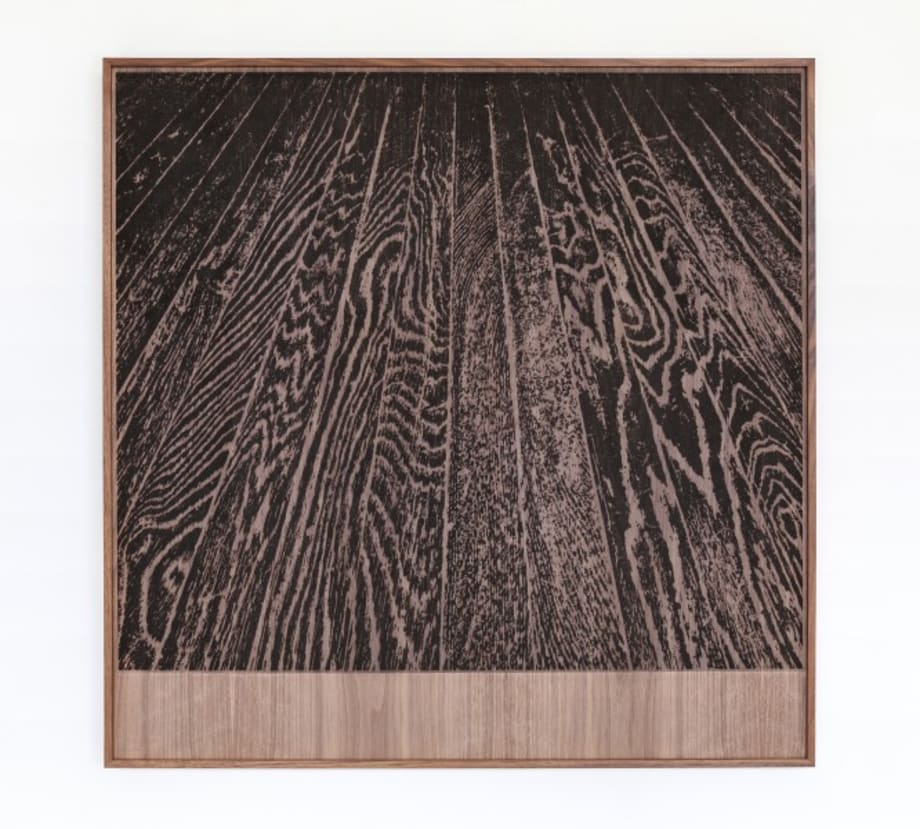 Wooden Floor on Wood (One-Point Perspective) by Analia Saban