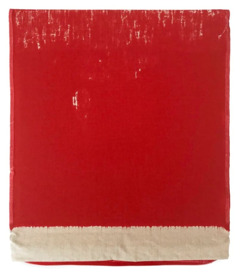 Pressed Paint (Cadmium Red) by Analia Saban