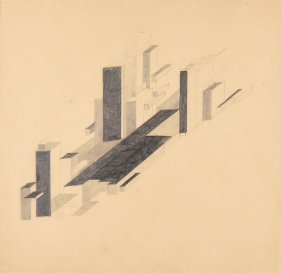 Suprematist City by Nikolai Suetin