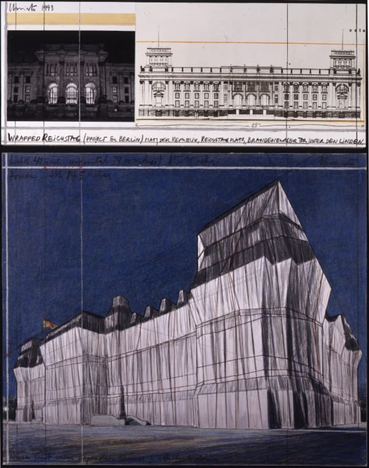 Wrapped Reichstag (Project for Berlin) by Christo