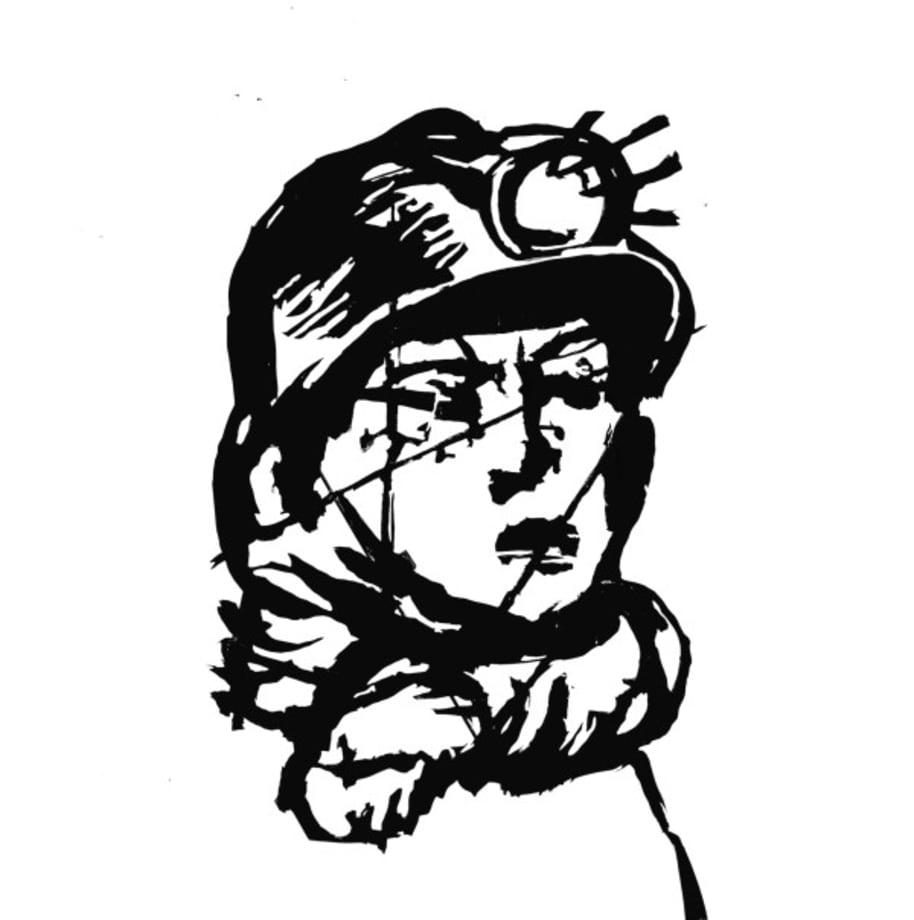 Head (Miner) by William Kentridge