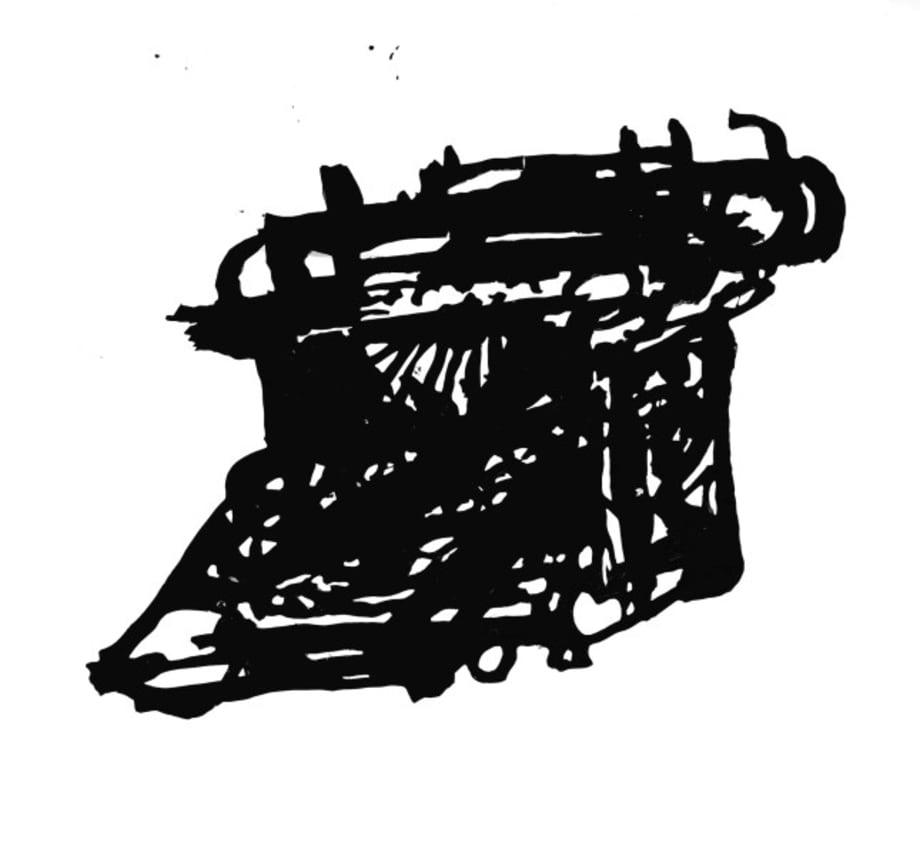 Small Silhouette (Typewriter I) by William Kentridge