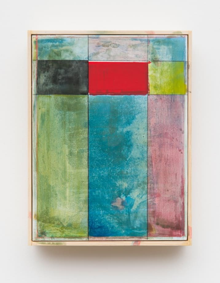 Untitled (Grey, Red, Yellow, Green, Blue, Red) by Matt Connors