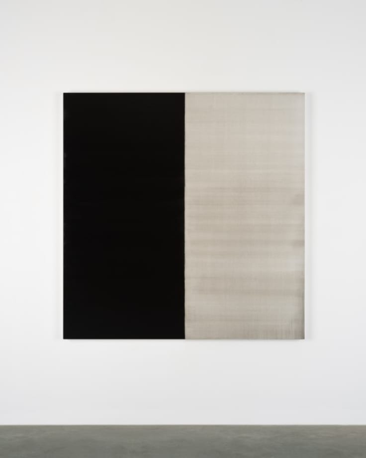 Untitled Lamp Black by Callum Innes