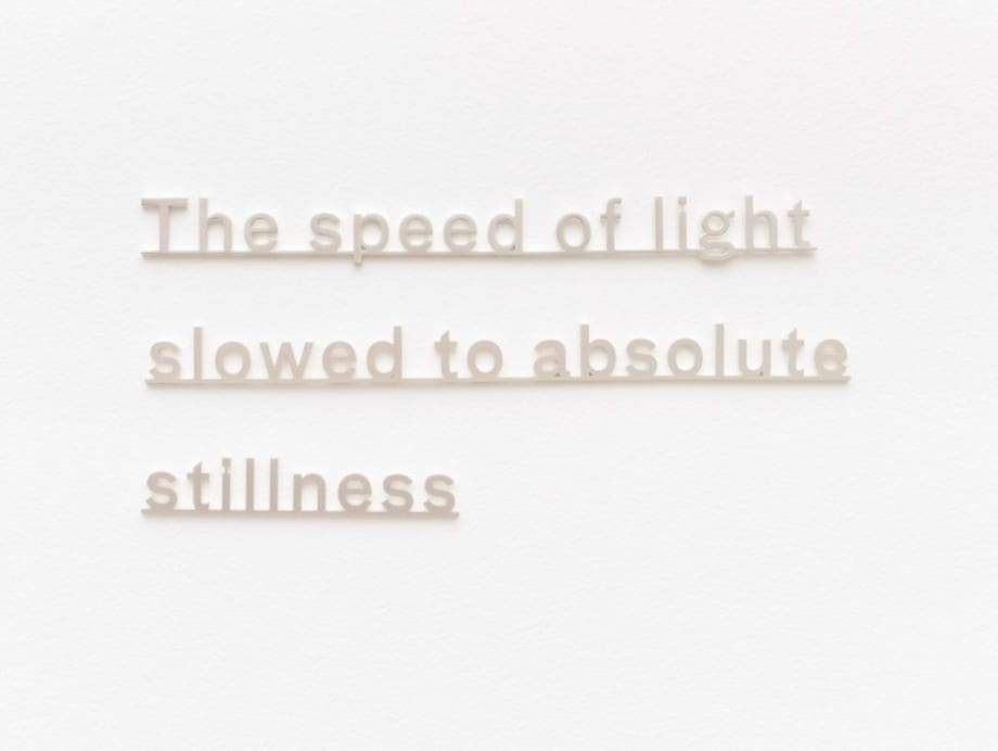 Ideas (The speed of light slowed to absolute stillness) by Katie Paterson