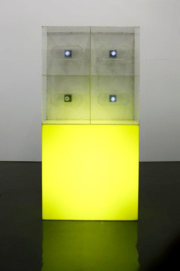 Light sculpture 'Flash' by Katsuhiro Yamaguchi