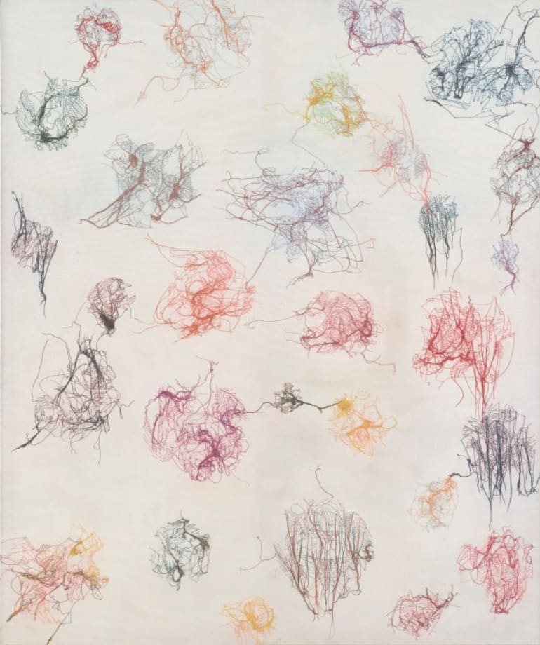 Untitled (Les Ronds) by Ghada Amer