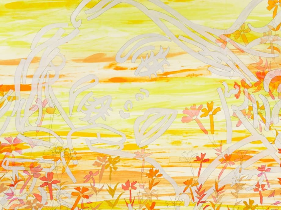 The Sun is Sinking in the West by Ghada Amer & Reza Farkhondeh