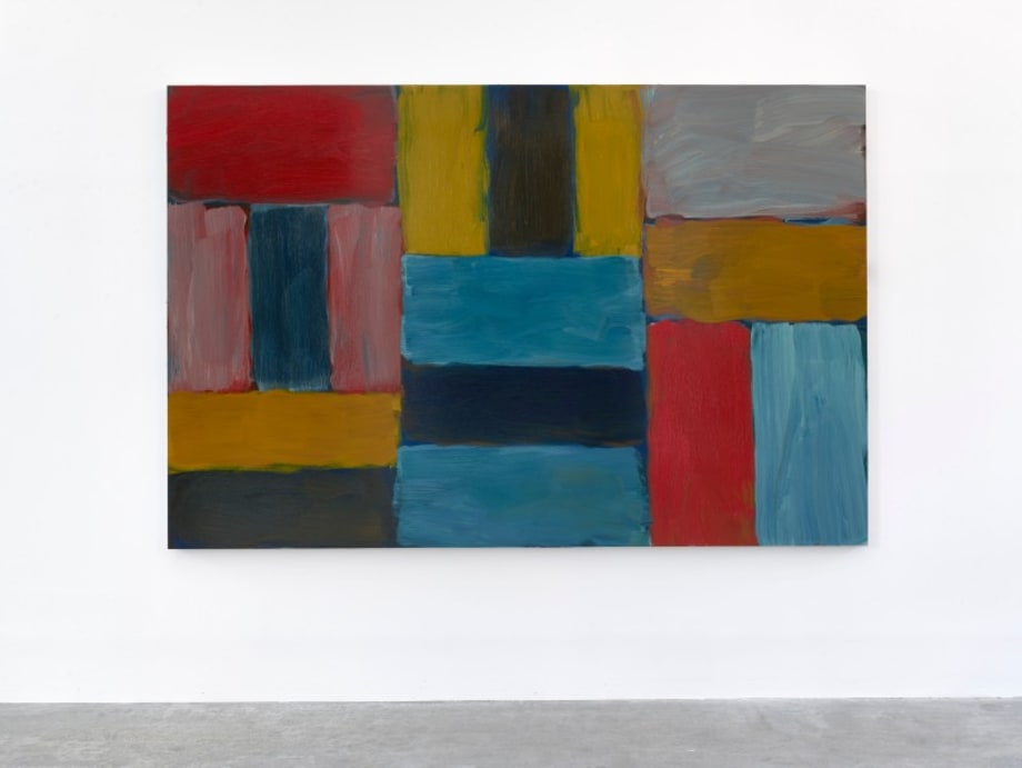 Wall in Blue by Sean Scully