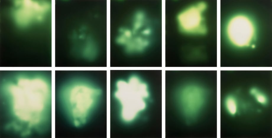 Untitled (Uranium Green) by Sigmar Polke