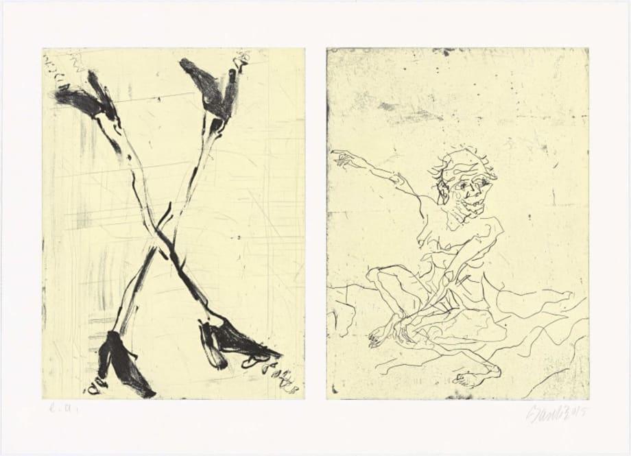Besuch von Hokusai III by Georg Baselitz