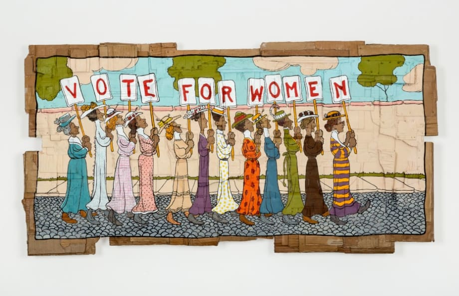 Vote For Women (Marching Women) by Andrea Bowers