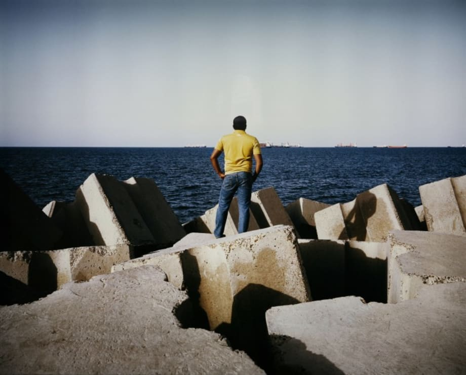 Man in Front of the Sea by Kader Attia