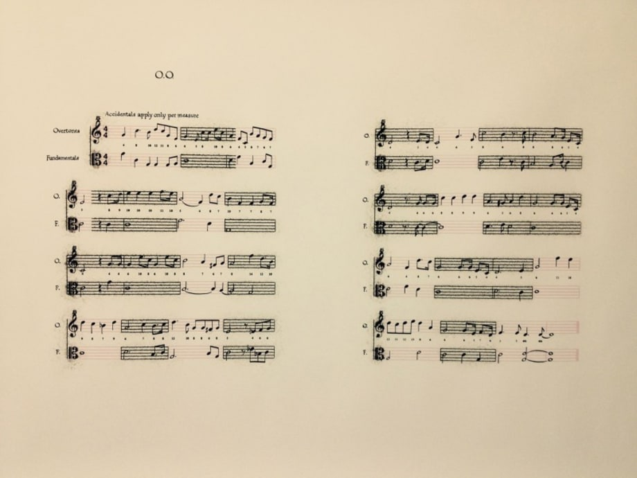 O.O. Score (Overtone Oscillations) variation by Anri Sala