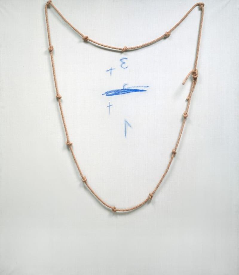 Corde et bleu by Antoni Tàpies