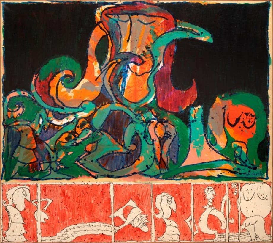 Le voyeur pourvu by Pierre Alechinsky
