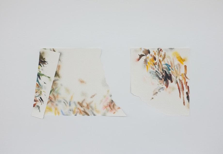 Autorretrato como papéis toalha sujos de tinta IV by Mauro Piva