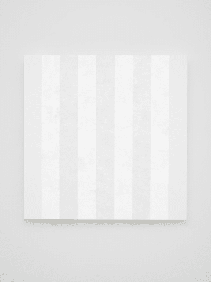 Untitled ( Multiband with White Sides, Beveled) by Mary Corse