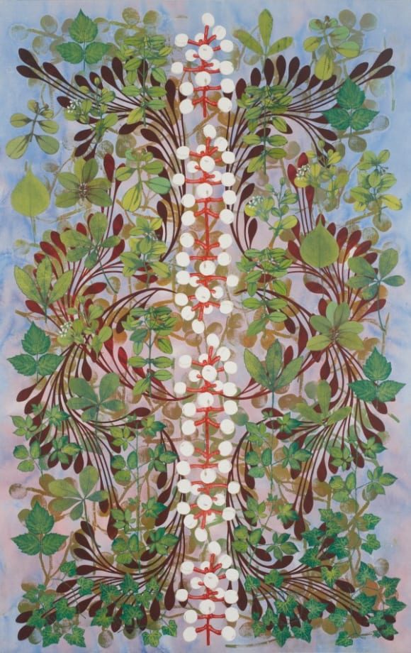 Imaginary Garden with Seed Clusters by Philip Taaffe